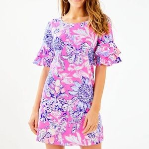 NWT Lilly Pulitzer Lula Ruffled Sun drenched Dress